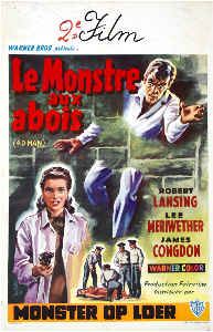 Vintage Movie Poster Print Le Monstre Aux Abois
