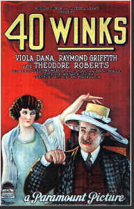 Vintage Movie Poster 40 winks 11x17
