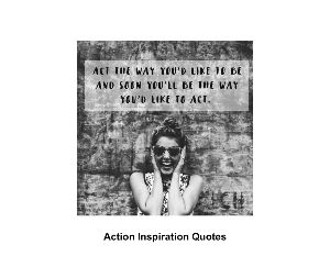 Action Inspiration Quotes 18 month Wall Calendar