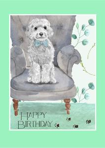 Underhound Railroad Happy Birthday Card
