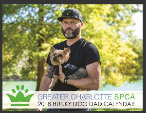 2018 Greater Charlotte SPCA Hunky Dog Dads Calenda
