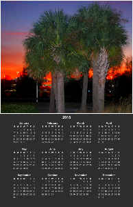 2018 Sunset Photo Poster Calendar