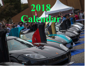 Exotic and Supercars Calendar