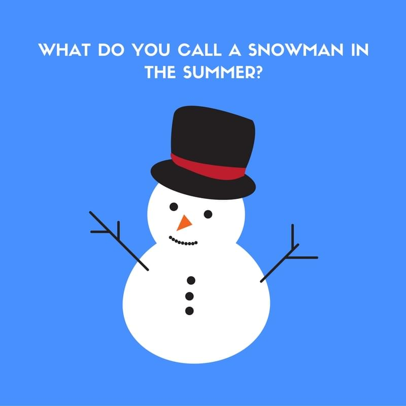 snowman in the summer