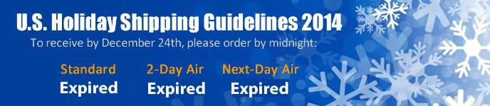 2014 Holiday Shipping Guidelines
