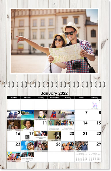 Photo Calendars Custom Wall