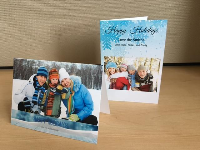 Create Personalized Folded Greeting Cards Online