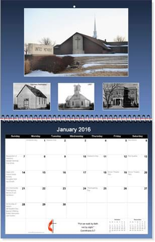 church photo calendar