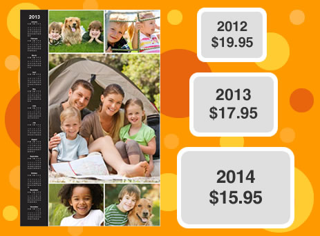 lifetime pricing on photo calendars