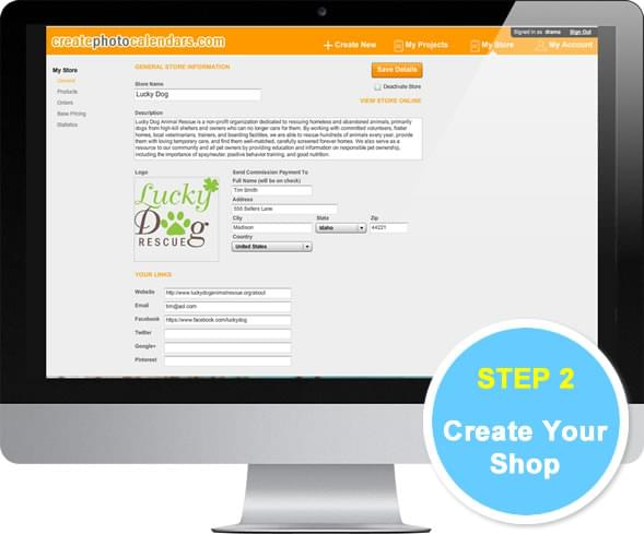 create your shop