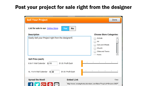 post your project for sale in designer