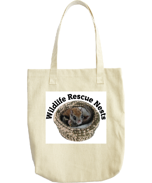 Wildlife Rescue Nests - Flying Squirrel Tote bag