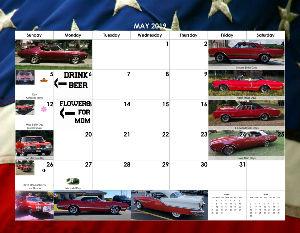 18 Months Of Oldsmobile - April 2019 - Sep 2020 Calendar